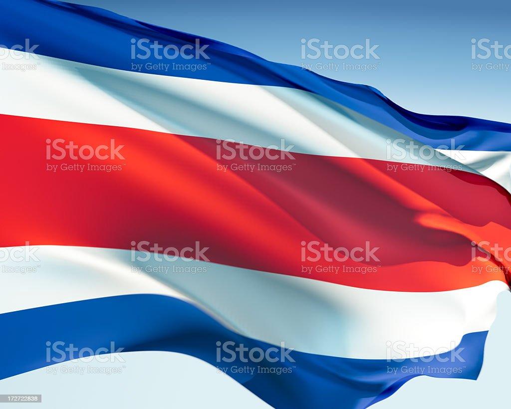 Flag of Costa Rica stock photo