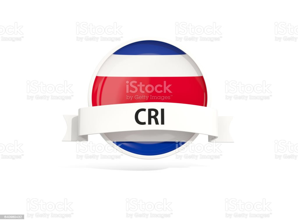 Flag of costa rica with banner stock photo