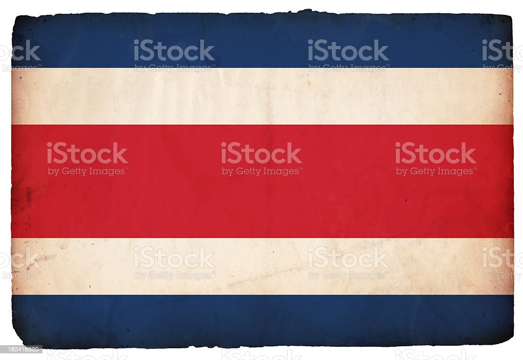 Flag of Costa Rica - XXXL royalty-free stock photo