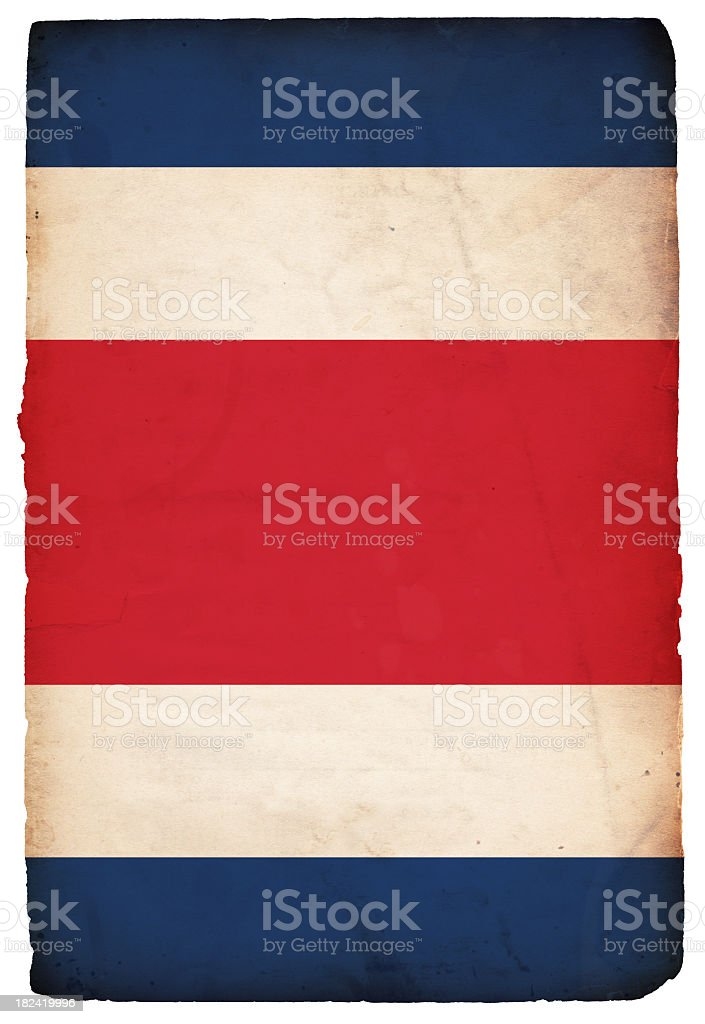 Flag of Costa Rica - XXXL stock photo