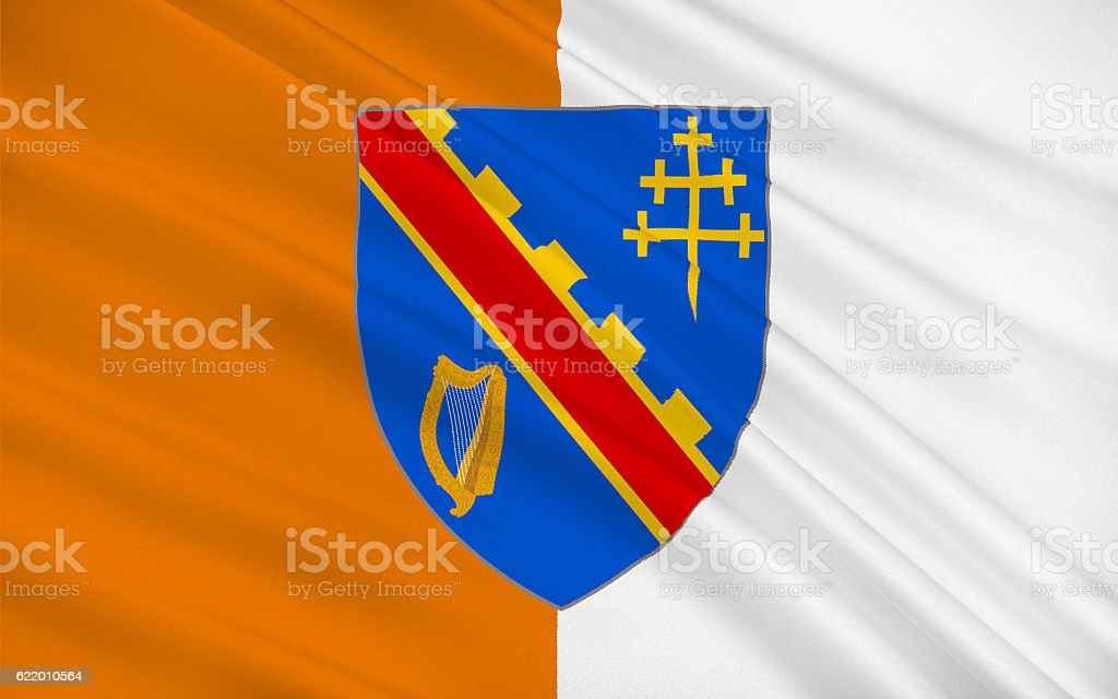 Flag of County Armagh in Ireland stock photo