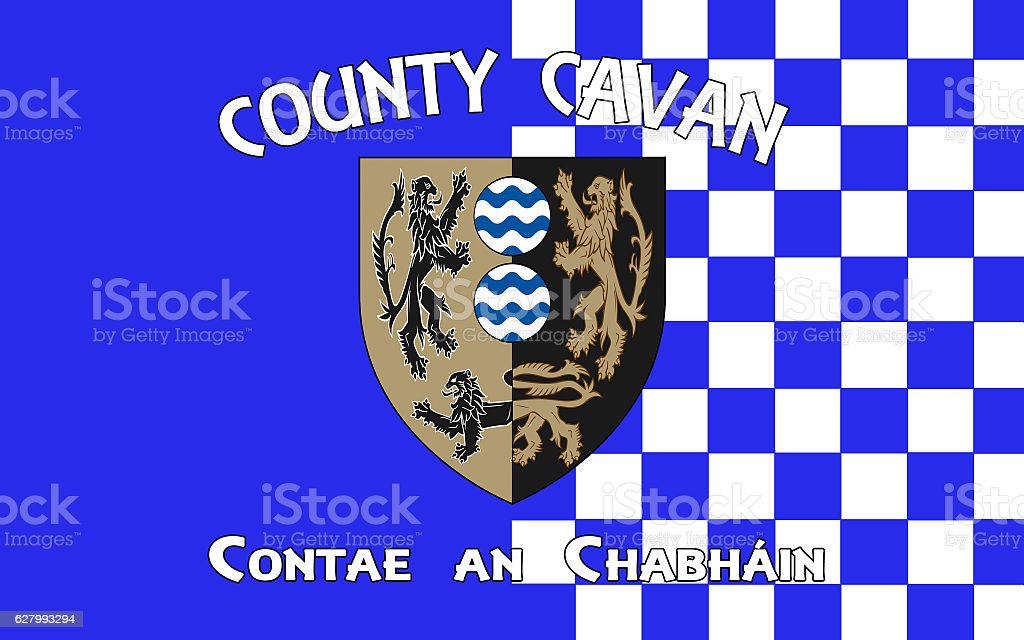 Flag of County Cavan is a county in Ireland stock photo