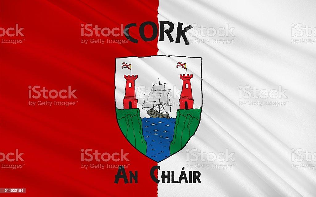 Flag of County Cork in Ireland stock photo