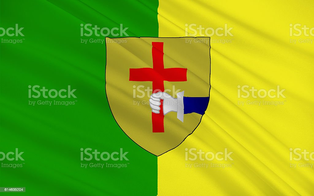 Flag of County Donegal is a county in Ireland stock photo