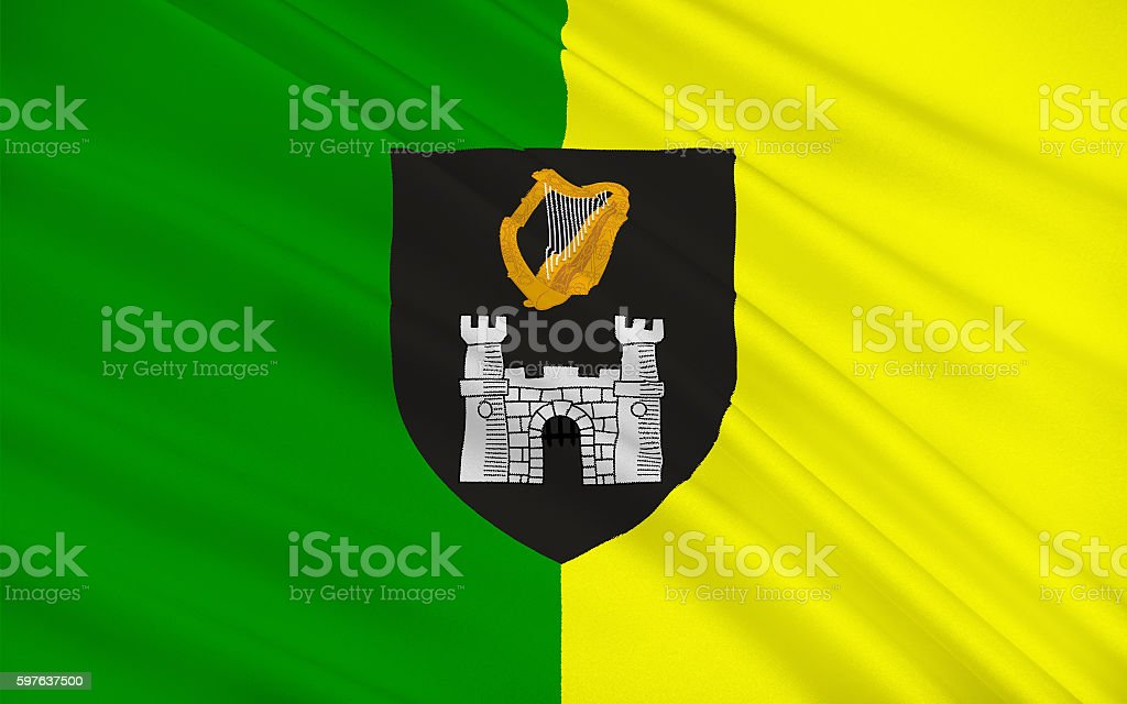 Flag of County Kerry is a county in Ireland stock photo