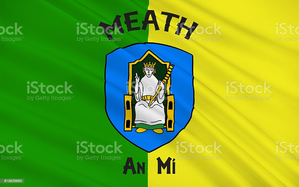 Flag of County Meath is a county in Ireland stock photo
