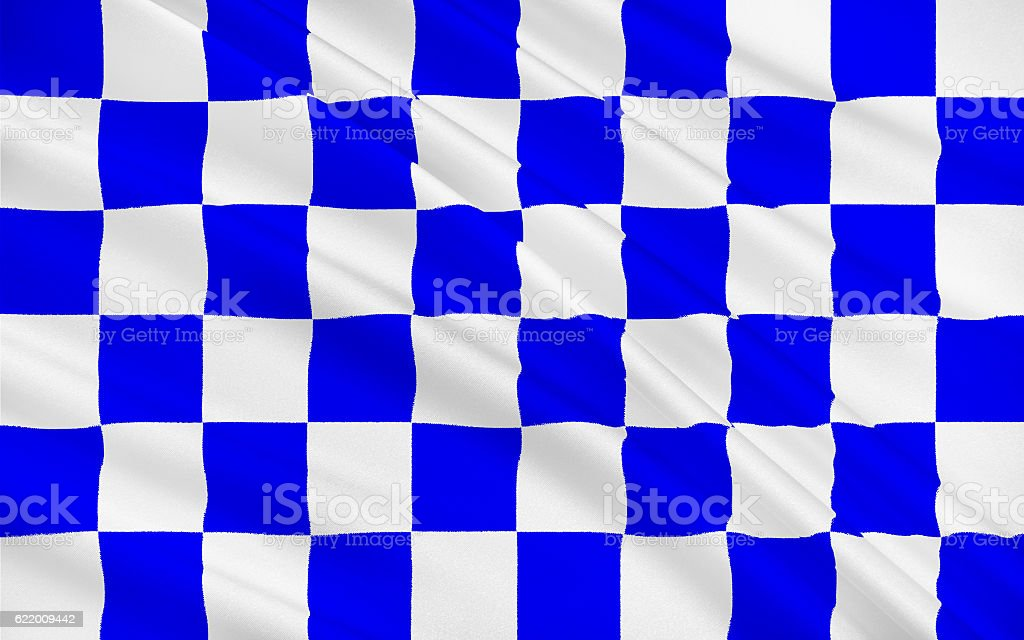 Flag of County Monaghan is a county in Ireland stock photo