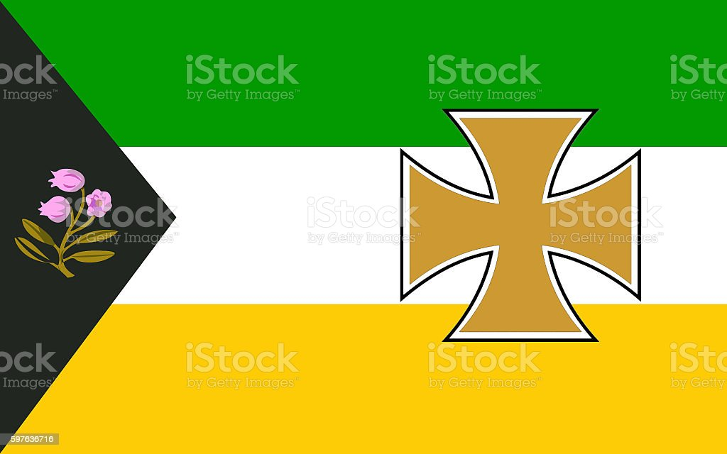 Flag of County Offaly is a county in Ireland stock photo