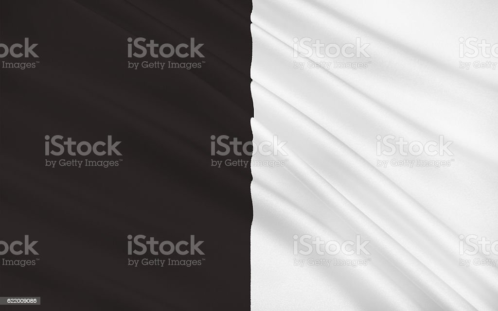 Flag of County Sligo is a county in Ireland stock photo