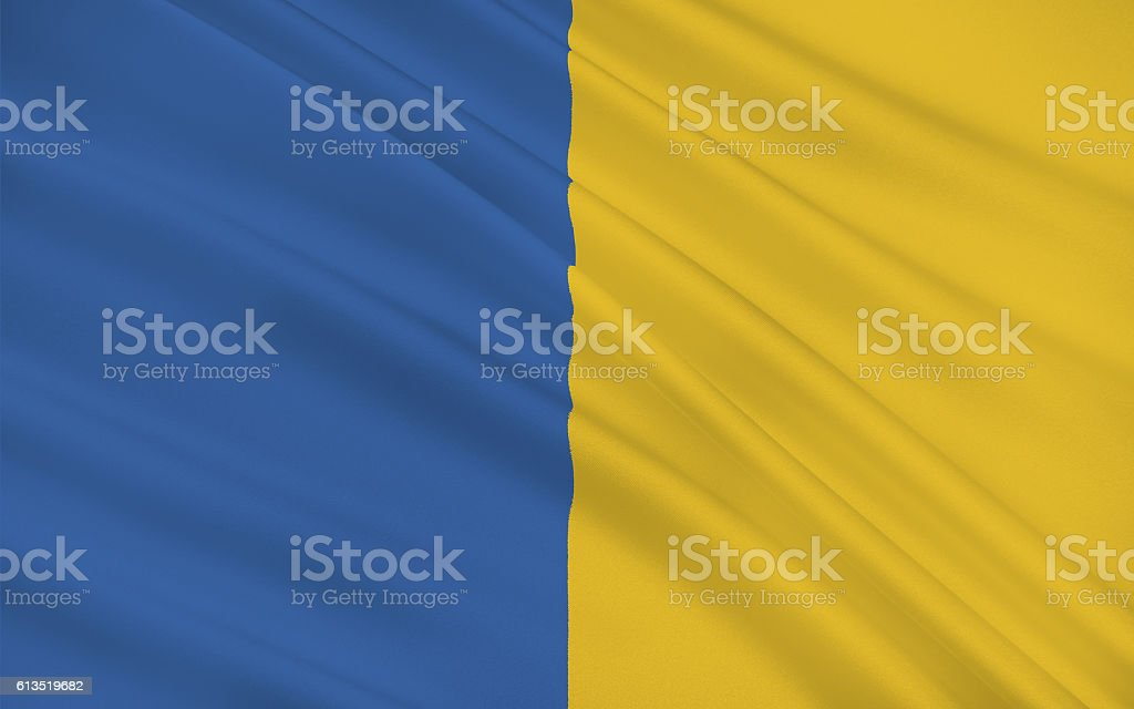 Flag of County Tipperary is a county in Ireland stock photo