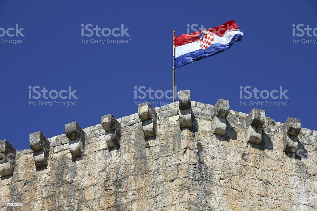 Flag of Croatia stock photo