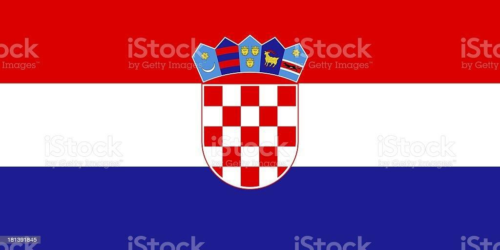 Flag of Croatia royalty-free stock photo