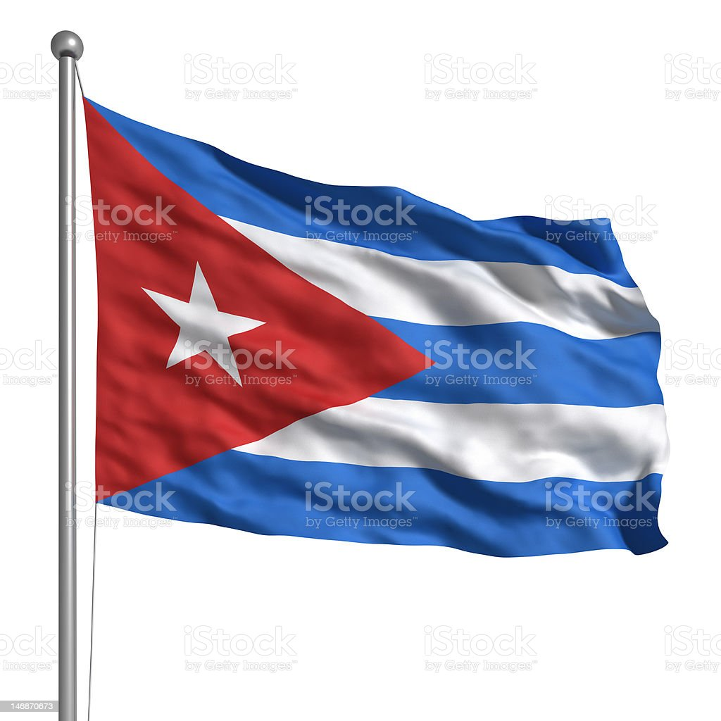Flag of Cuba (Isolated) stock photo