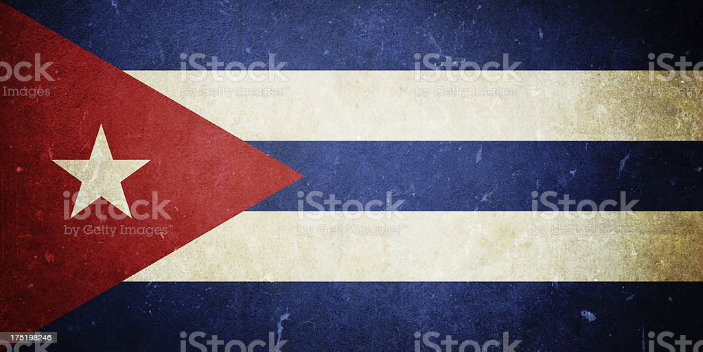 Flag of Cuba royalty-free stock photo