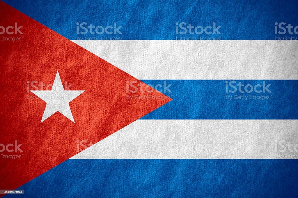 flag of Cuba stock photo