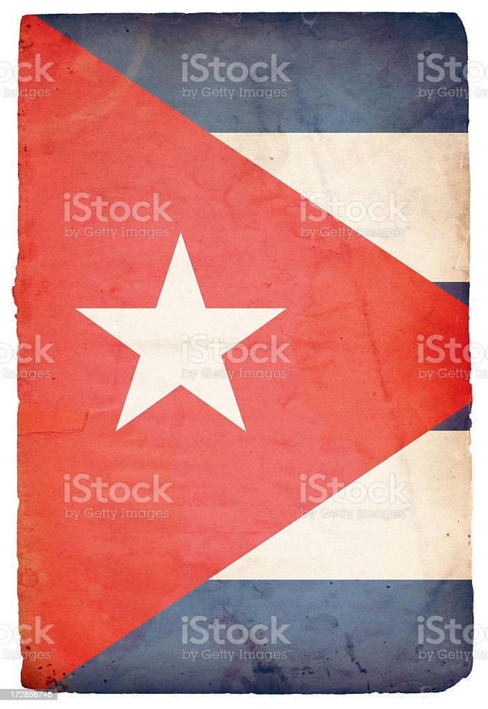 Flag of Cuba XXXL royalty-free stock photo