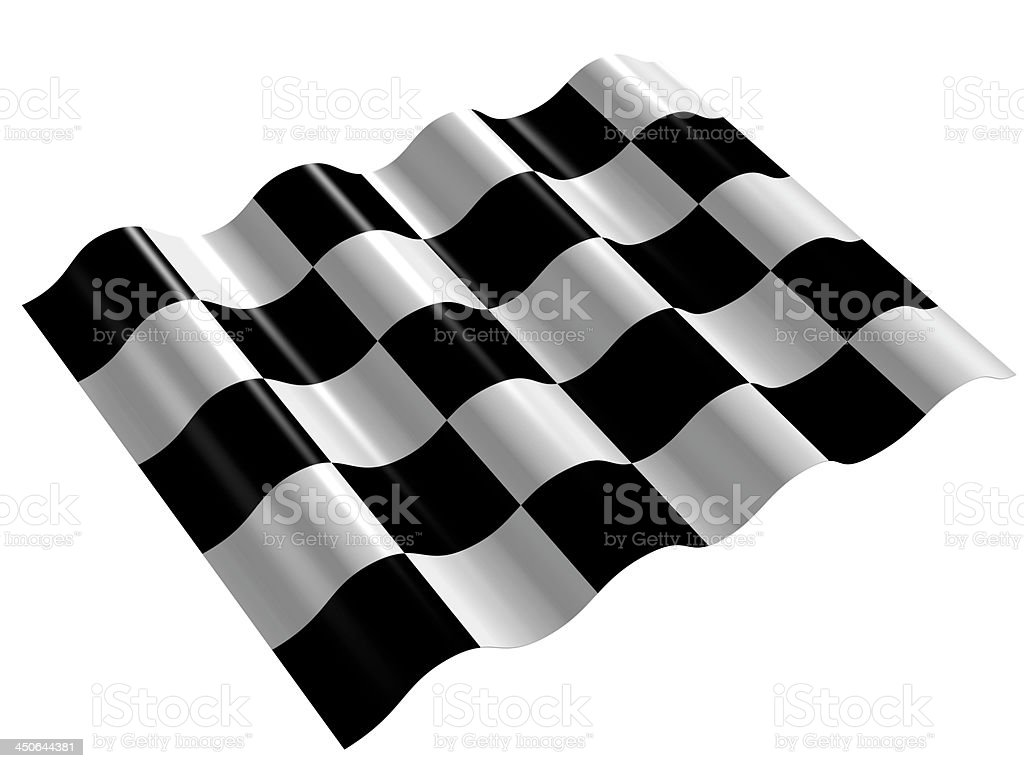 flag of cycle racing finish royalty-free stock photo