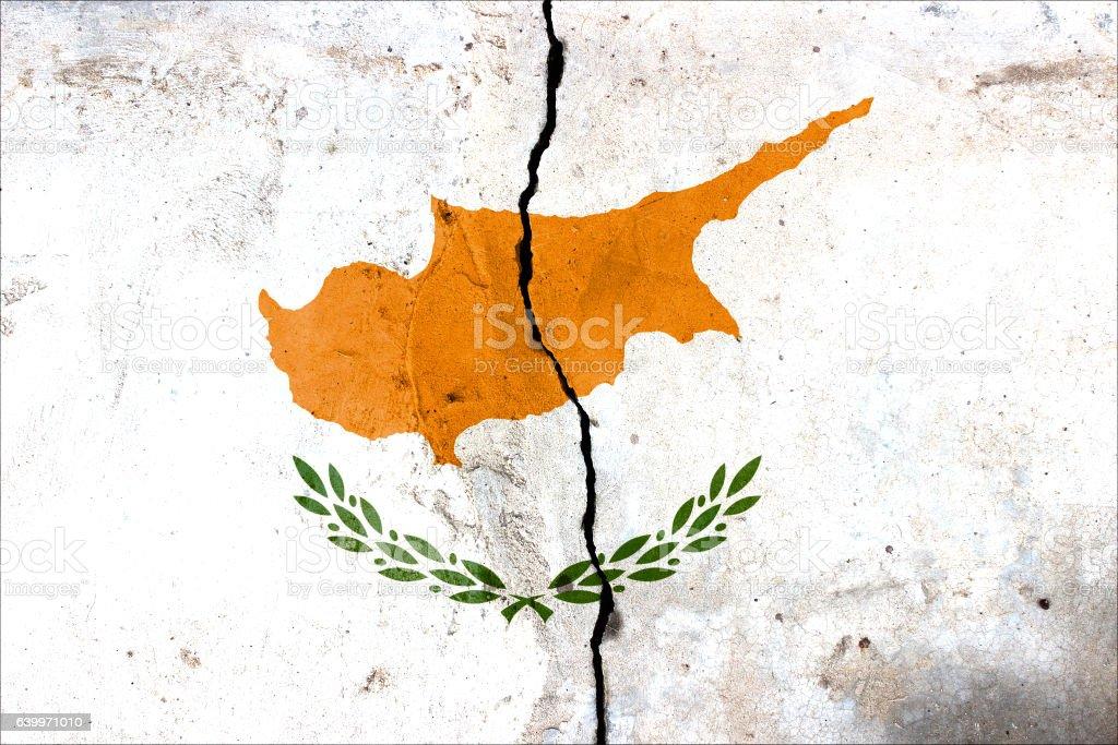 Flag of Cyprus stock photo