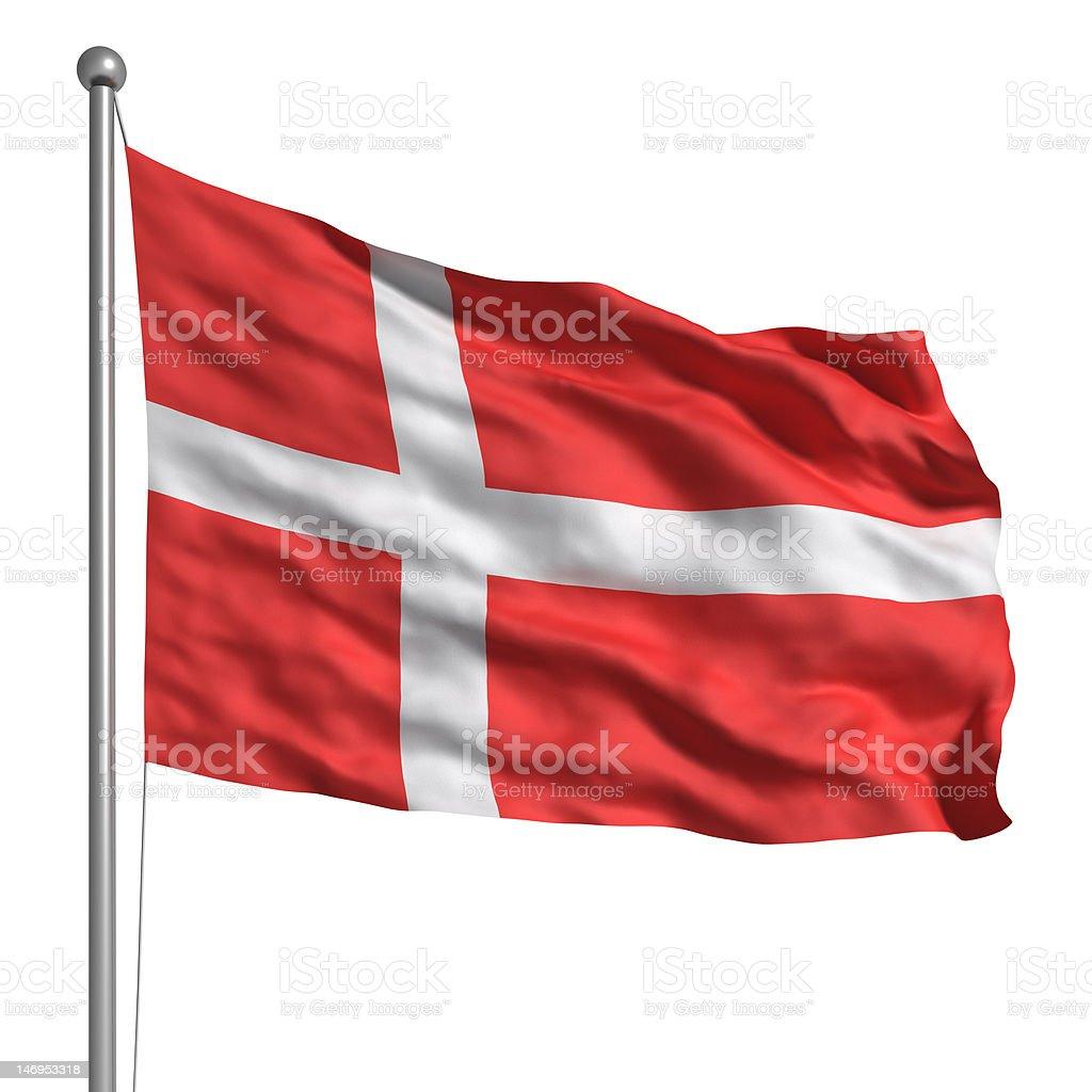 Flag of Denmark (Isolated) stock photo