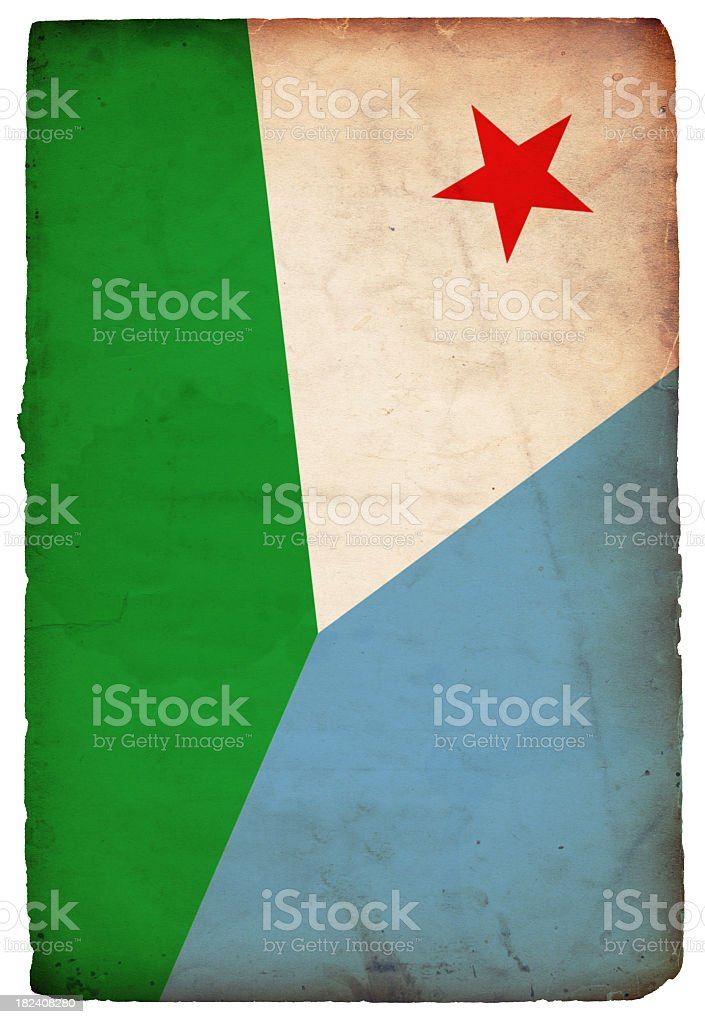 Flag of Djibouti - XXXL royalty-free stock photo