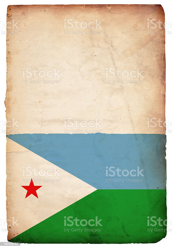 Flag of Djibouti - XXXL stock photo