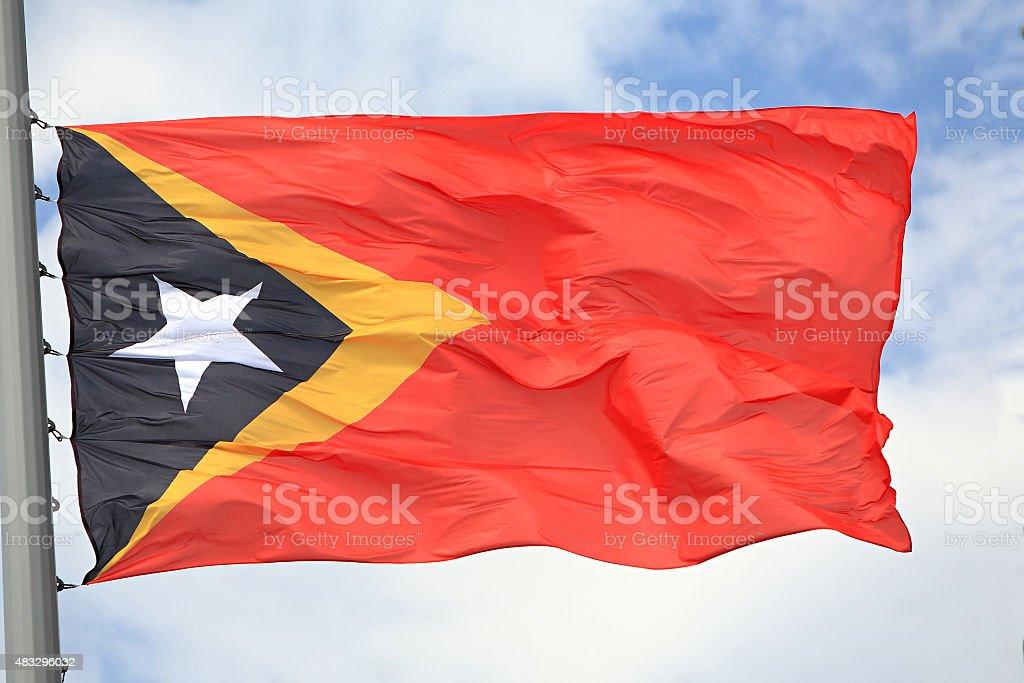 Flag of East Timor stock photo