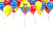 Flag of ecuador on balloons