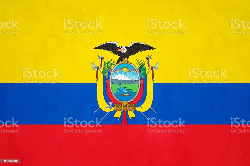 Flag of Ecuador stock photo