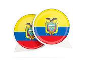 Flag of ecuador, round chat icon