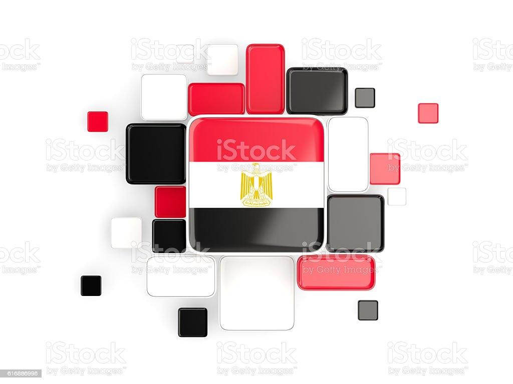 Flag of egypt, mosaic background stock photo