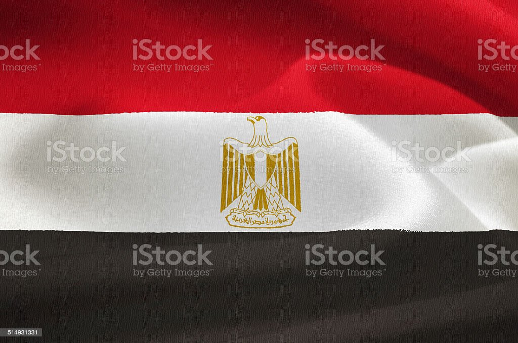 flag of Egypt stock photo