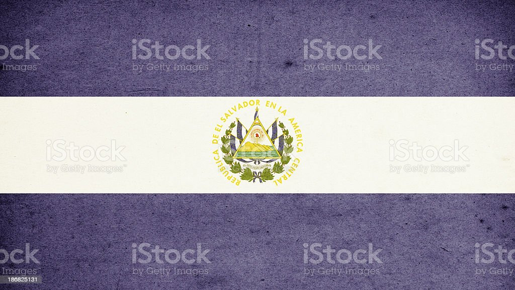 Flag of El Salvador Close-Up (High Resolution Image) stock photo