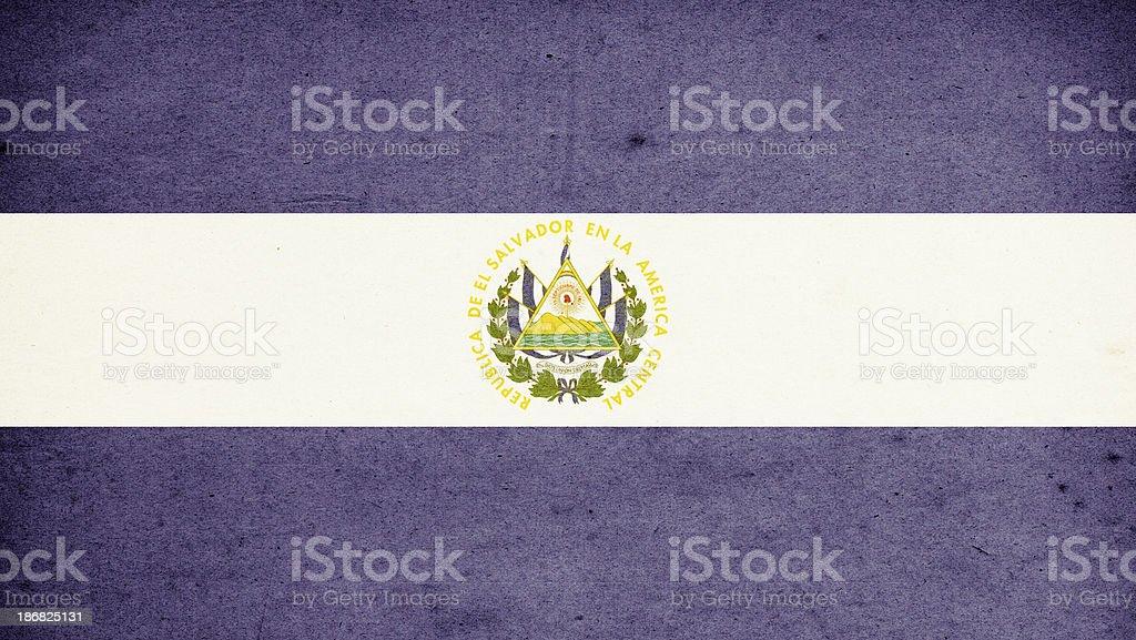 Flag of El Salvador Close-Up (High Resolution Image) stock photo