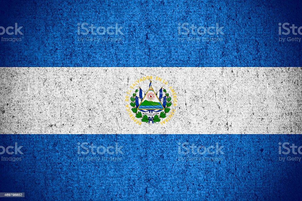 flag of El Salvador stock photo