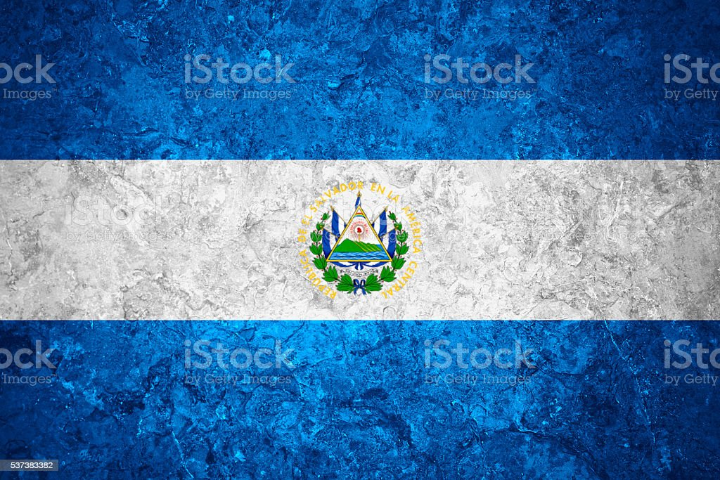 flag of El Salvador stock photo