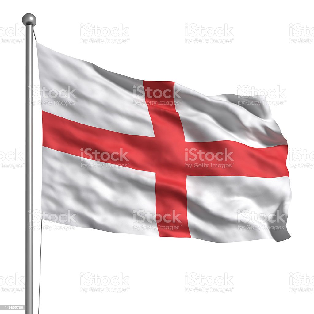 Flag of England (Isolated) royalty-free stock photo