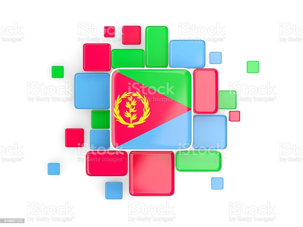 Flag of eritrea, mosaic background stock photo