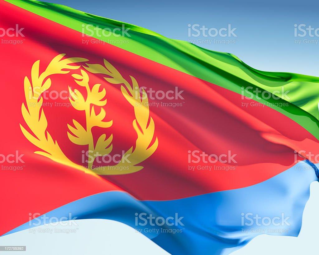 Flag of Eritrea stock photo