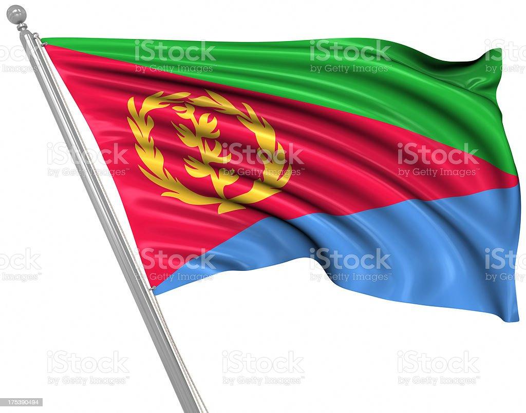 Flag of Eritrea royalty-free stock photo