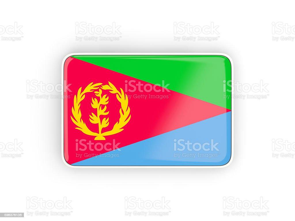 Flag of eritrea, rectangular icon stock photo