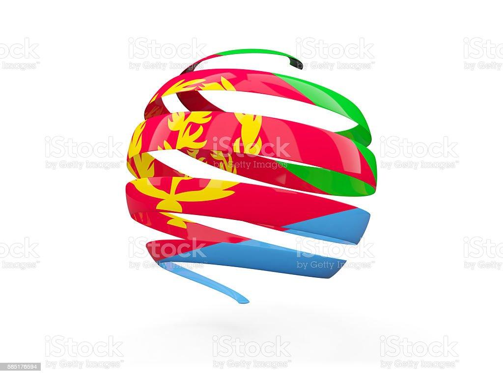 Flag of eritrea, round icon stock photo