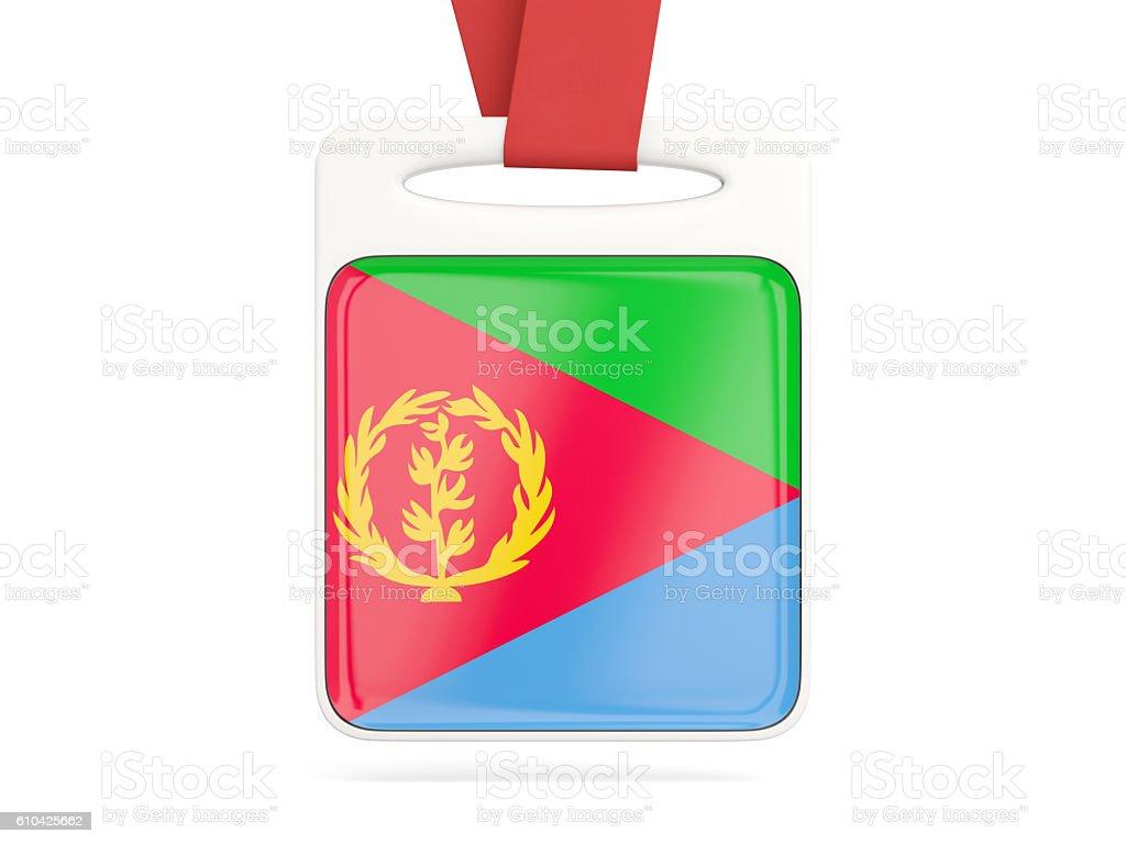 Flag of eritrea, square card stock photo
