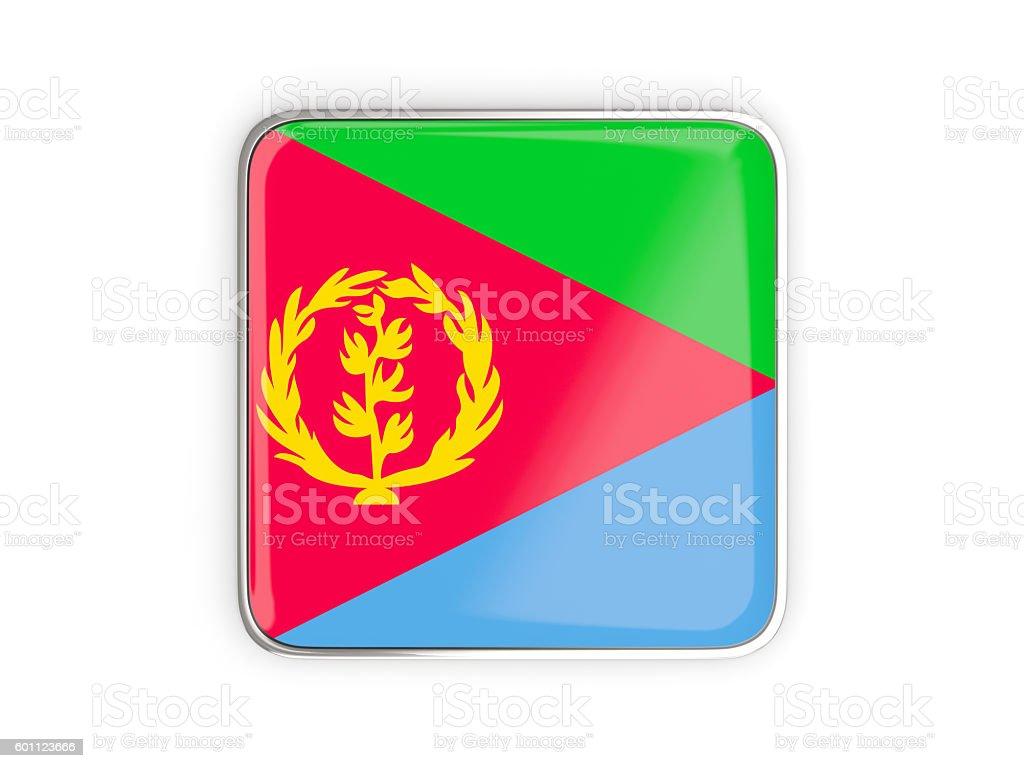 Flag of eritrea, square icon stock photo