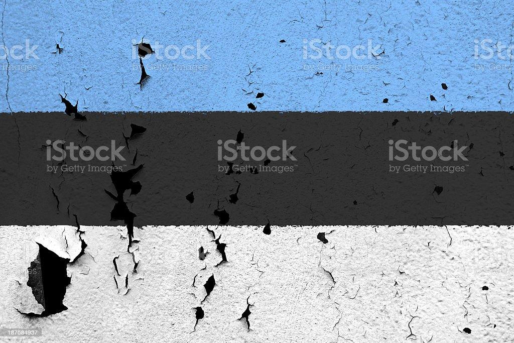 Flag of Estonia royalty-free stock photo