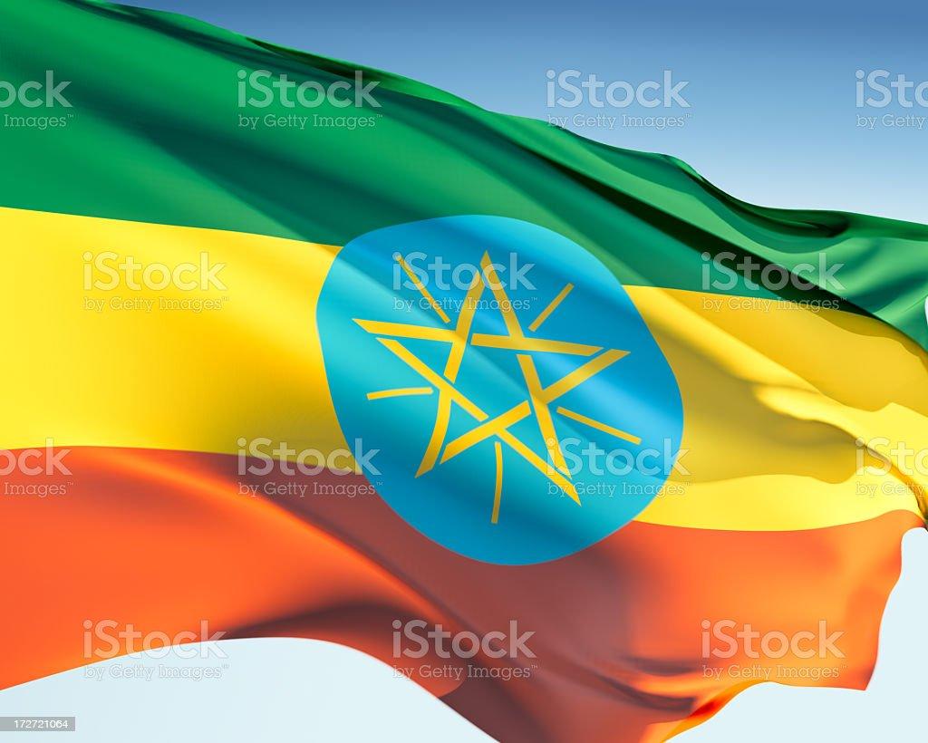 Flag of Ethiopia royalty-free stock photo