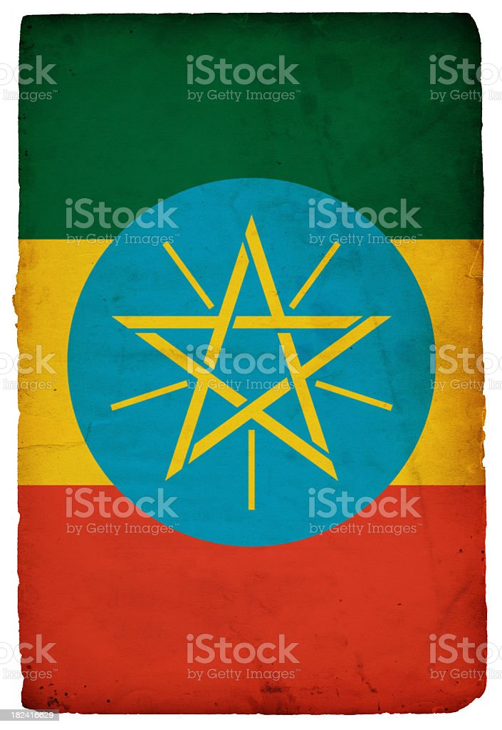 Flag of Ethiopia - XXXL stock photo