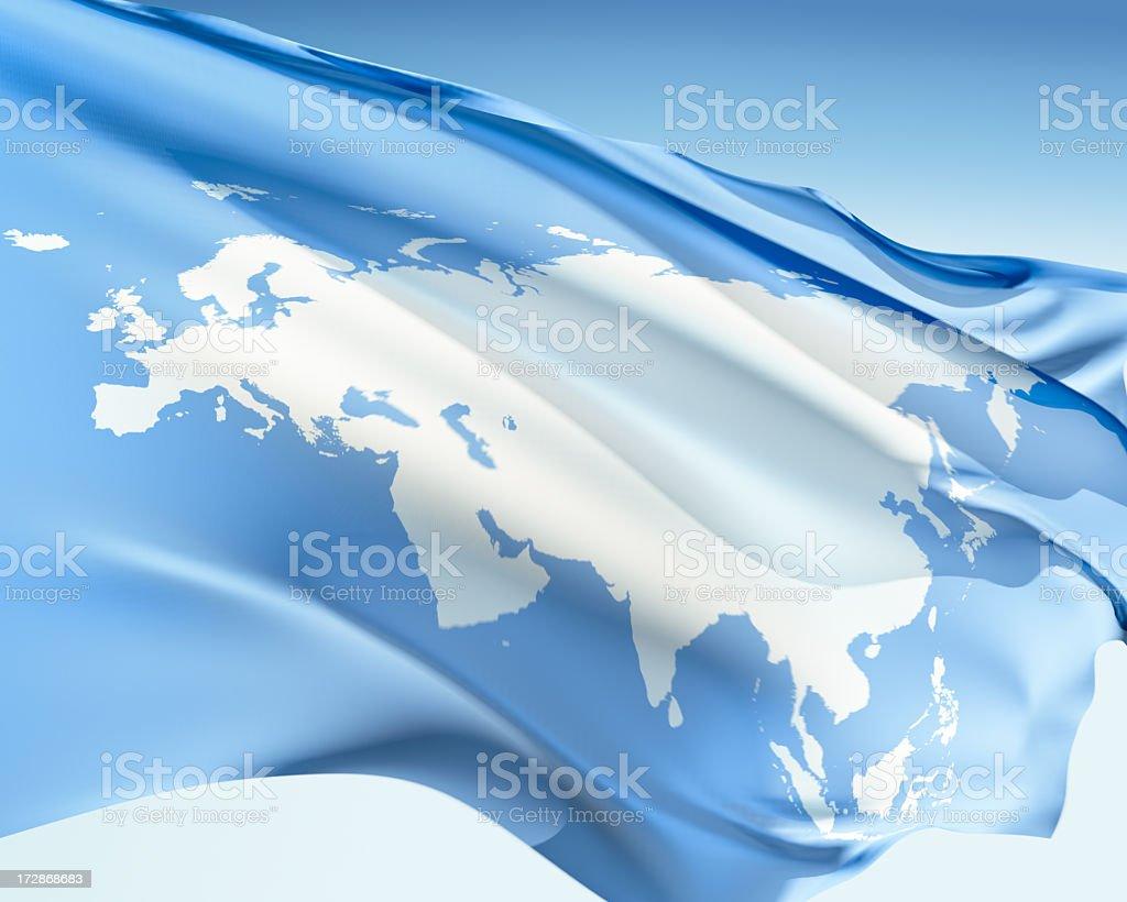 Flag of Eurasia stock photo