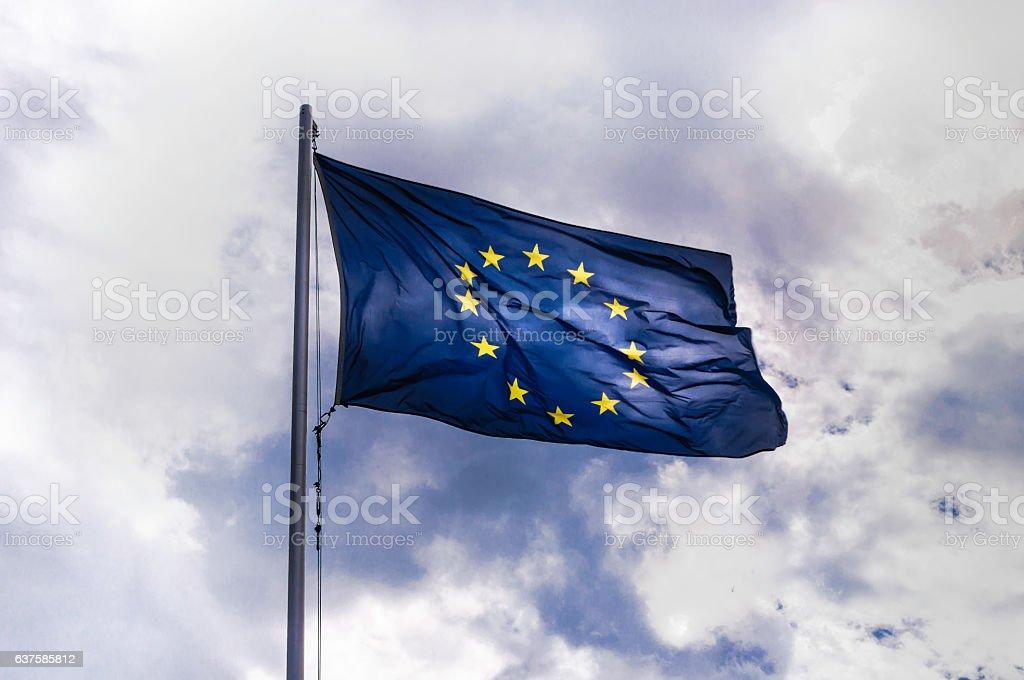 Flag of Europe stock photo
