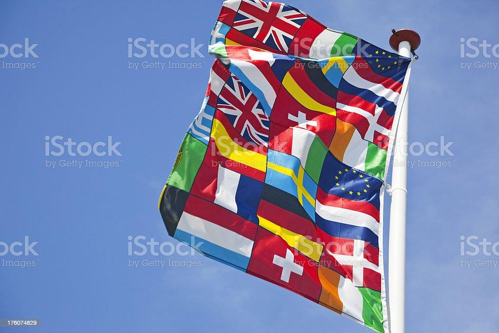 Flag of Europe # 3 XXXL royalty-free stock photo