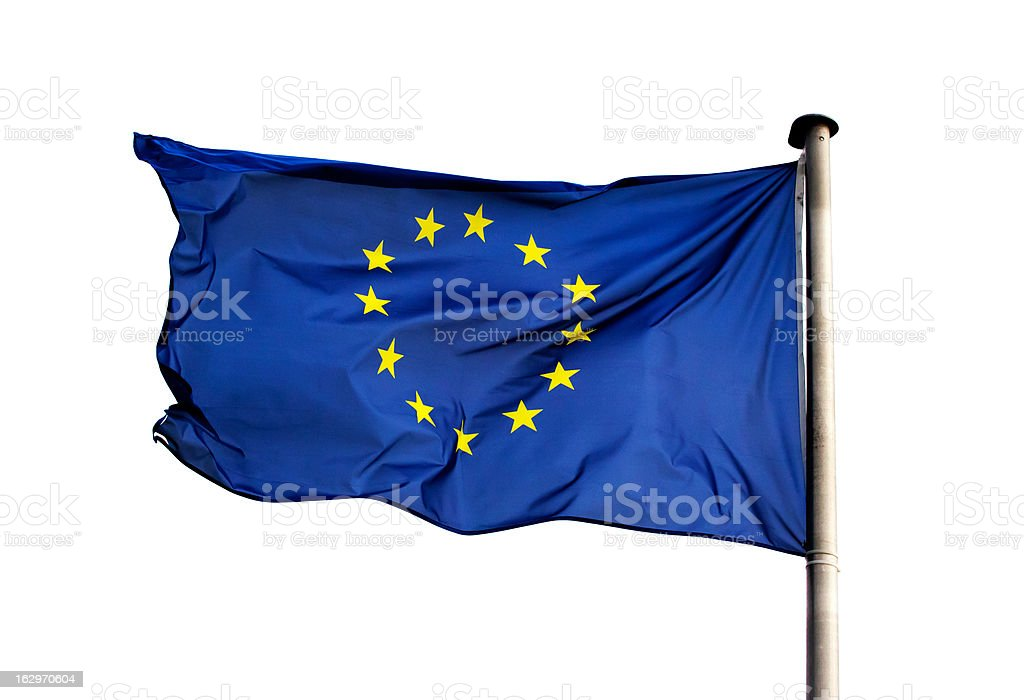 Flag of  European Union on white background royalty-free stock photo